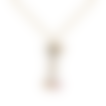 Sparkling Initial necklace Gold letter I