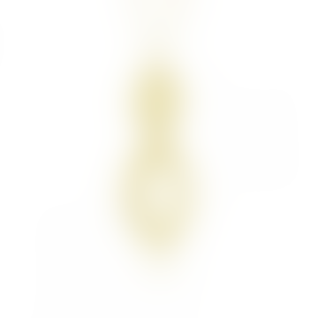 mounir LONDON Gold Plated Textured Double Teardrop Necklace