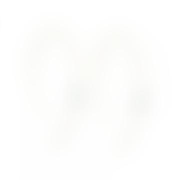 mounir LONDON 7.5cm Long Open Hoop Pearl Earrings