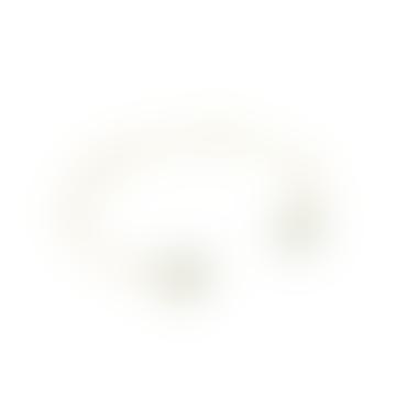 mounir LONDON Gold Vermeil White Pearl Adjustable Bangle