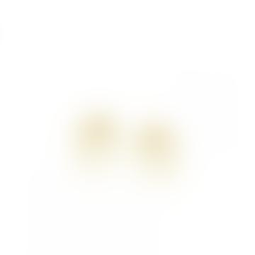 mounir LONDON Gold Plated Square Stud Earrings