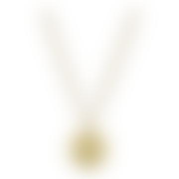Gold Vermeil Libra Zodiac Pendant