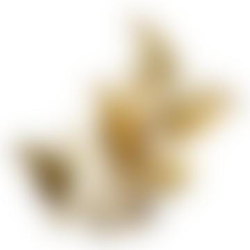 Golden Fern Leaf Tealight Holder