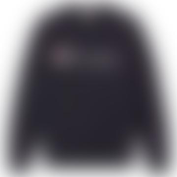 Champion Champion Reverse Weave Script Logo Crew Sweat Navy