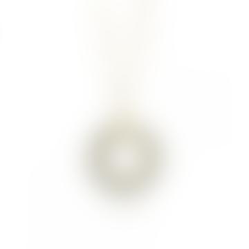 mounir LONDON Gold Plated Pyrite Beads Pendant Necklace