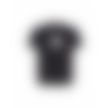 Baracuta Tee Contrast Logo Dark Navy