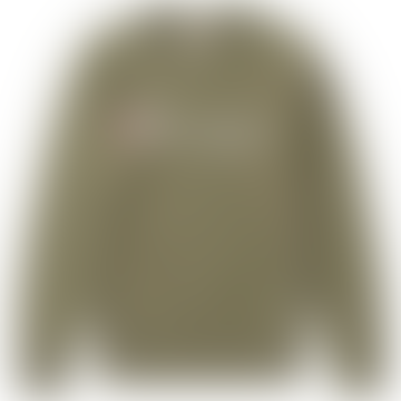 Champion Charcoal Script Logo Crew Sweatshirt