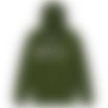 Champion Champion Reverse Weave Script Logo Hoody Bottle Green