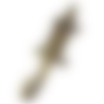 Antique Brass Crocodile Hook