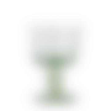 Green Low Wineglass