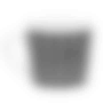 400ml Black Porcelain Wave Mug