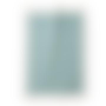 67x48cm White and Blue Triangle Cotton Tea Towel