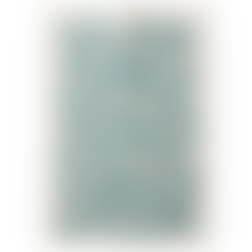 Littlephant 67x48cm White and Blue Pulm Cotton Tea Towel