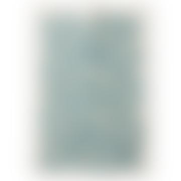 67x48cm White and Blue Pulm Cotton Tea Towel