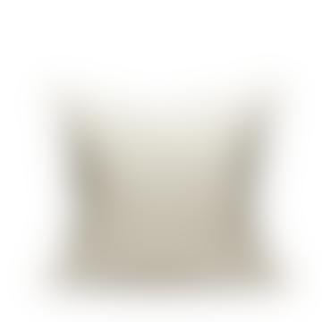 50x50cm White and Grey Circus Cotton Cushion