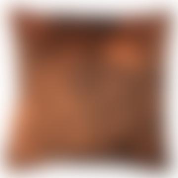 50 x 50cm Orange Velvet Woods Cushion Cover LA59