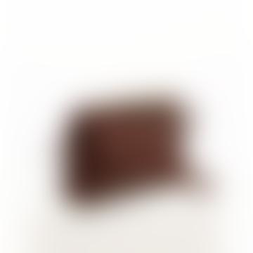 Small burgundy leather bag LOLA