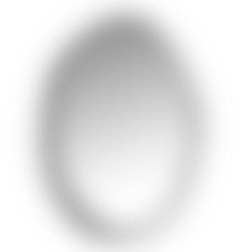 Miroir ovale noir et argent