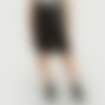 Black Denim Satin Skirt