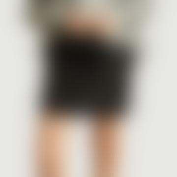 Mini Black Fleece Lined Skirt