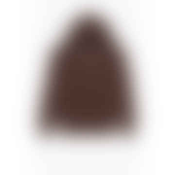 Champion Small Script Logo Reverse Weave Hoodie Brown