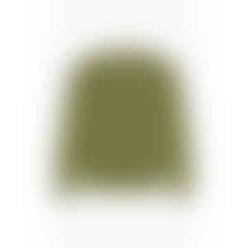 Script Logo Reverse Weave Sweatshirt Military Green