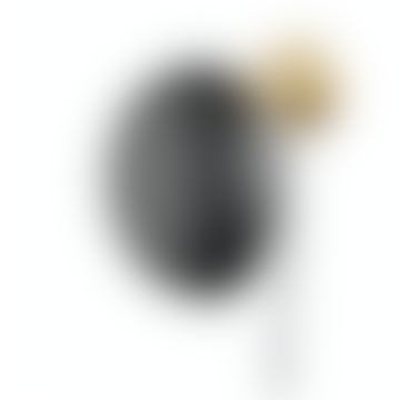 30cm Black Shade Brass Round Wall Lamp