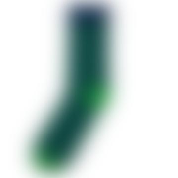 Navy and Green Sigtuna Dots Socks