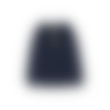 Belle Chiara Navy Blue Plush Marine Midi Skirt