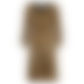Numph Chai Tea Nusnaxi Jersey Snake Skin Pattern Dress - 7519835
