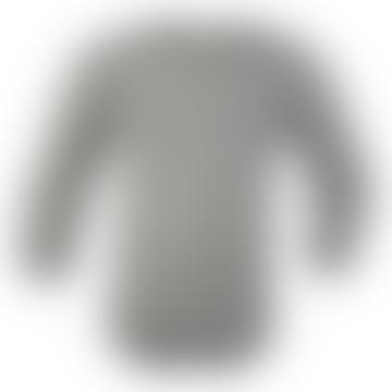 Light Gray Melange Long Sleeve Baby Bodysuit