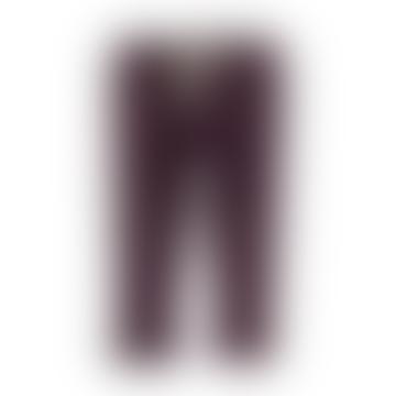 Piupiuchick Dark Violet Ribbed Legging