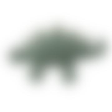 Sebra Green Crochet Rattle Dinosaur