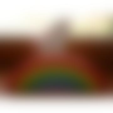 Handmade Wooden Toys Wooden Unicorn Rainbow Stalker Toy