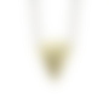 Brass Geometric Shape Lucie Pendant Necklace