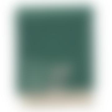 130x180cm Dark Green Felt Wool Pin Stripe Blanket