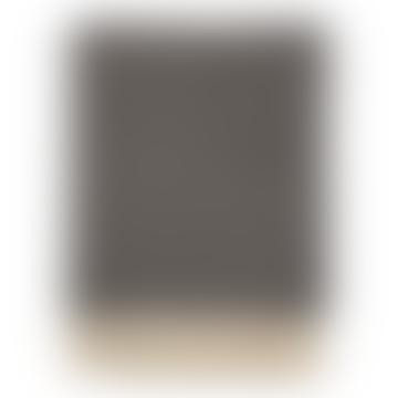130x180cm Dark Gray Felt Wool Pin Stripe Blanket