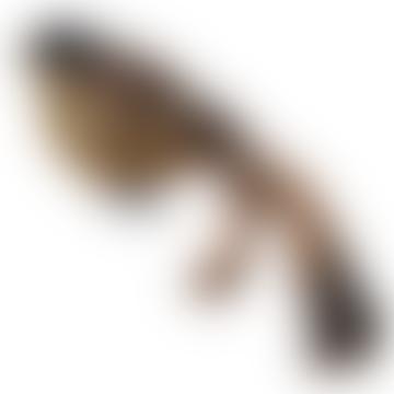 18cm Gold Glitter Body Feather Bird