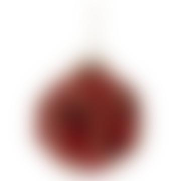 10cm Red Gold Glass Ball Polygonal