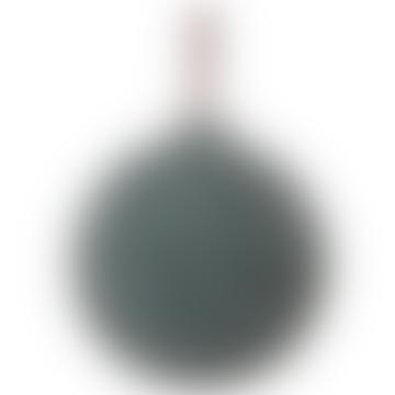 8cm Sugared Green Glass Ball