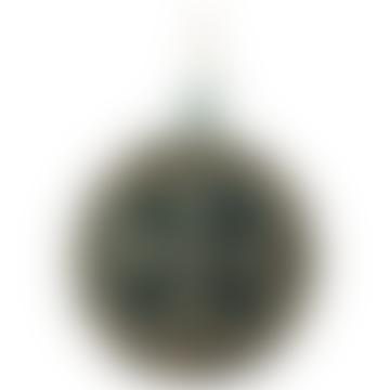 8cm Blue Gold Glass Flower Ball