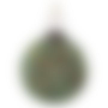 7cm Green Diamond Bead Glass Ball