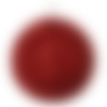 12cm Red Glitter Long Bead Ball