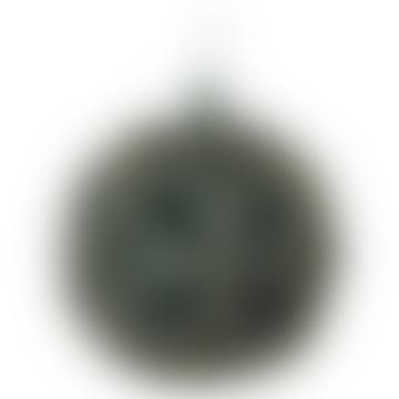 10cm Blue Gold Glass Flower Ball