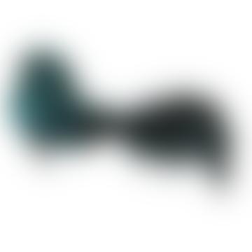 17cm Blue Green Feather Bird mit Straussenschwanz