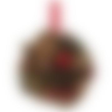 6cm Glitzerkegel Gewürzkugel mit roten Beeren