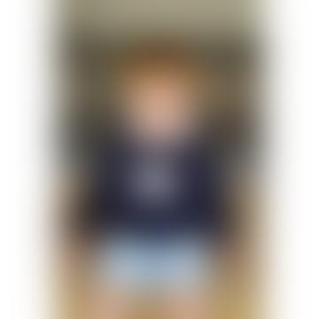 Childrens Navy Cashmere Blend Star Sweater 3-4yrs