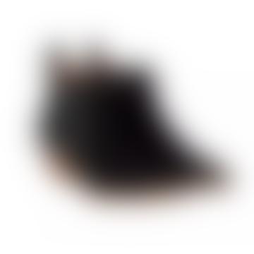 Black Suede Dallas Cowboy Ankle Boot