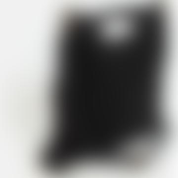 Sienna Goodies Fringed Leather Suede Bag Black