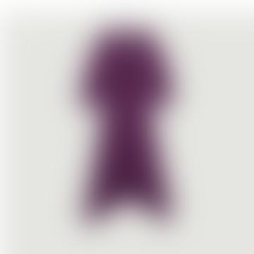 Purple Viscose Cyana Long Dress